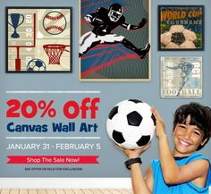 Take 20% off all Canvas Wall Art at Oopsy daisy for a limited time - shop the sale now!