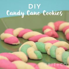 Brit Co Video Bake up a dozen Candy Cane Cookies+ Christmas Deserts, Christmas Drinks, Holiday Desserts, Holiday Baking, Christmas Candy, Holiday Treats, Christmas Baking, Holiday Recipes, Christmas Decor