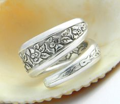 Silver Spoon Ring, Silverware Jewelry. ONLY $19.50!