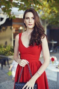 HAYLEY PARKER wears Preen Dress, Chanel Handbag, Kailis Ring & Bracelet || Photo by Cheyne Tillier-Daly