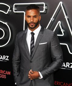 Ricky Whittle at the American Gods World Premiere in LA.