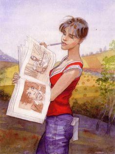 Jean-Pierre Gibrat ... Love the art within art