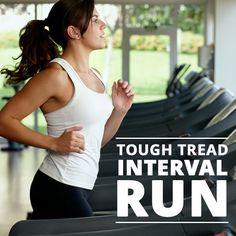 Tough Tread Interval Run is a great way to use that treadmill! #treadmill #toughtreadrun #running