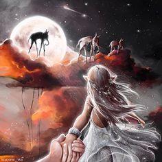 Fantasy Artwork, Dali, Follow Me, My Drawings, Moonlight, Snow, Anime, Instagram, Fantasy Art
