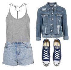 """""""Untitled #58"""" by deborasilva02 ❤ liked on Polyvore featuring Topshop and Converse"""