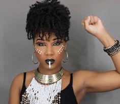15 Dope-make-up lijkt geïnspireerd op de Black Panther-film Black Panthers, Make Up Looks, Queen Makeup, Beauty Makeup, Makeup Tips, African Tribal Makeup, Tribal Face, Warrior Makeup, Black Panther Costume