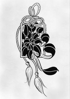 Japanese Dragon Tattoo Meaning, Japanese Demon Tattoo, Japanese Tattoo Designs, Flower Tattoo Designs, Mini Tattoos, Small Tattoos, Tattoo Sketches, Tattoo Drawings, Dragon Tattoo Drawing