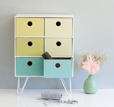 The IKEA Moppe storage unit is back and ready to be madeover into someone marvelous! Check out these IKEA Moppe hacks for some DIY inspiration. Diy Storage Unit, Ikea Storage, Storage Hacks, Storage Solutions, Table Storage, Box Storage, Office Storage, Makeup Storage, Extra Storage