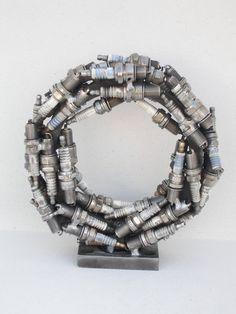 Circle metal sculpture handmade by Giannis Dendrinos Circle Shape, Sculptures, Metal, Bracelets, Handmade, Jewelry, Art, Art Background, Hand Made
