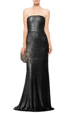Prabal Gurung Strapless Dusted Paillette Gown - Preorder now on Moda Operandi
