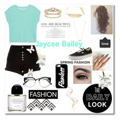 """""""Untitled #61"""" by jayceebailey ❤ liked on Polyvore featuring Majestic Filatures, River Island, Cara, Kendra Scott and Vans"""