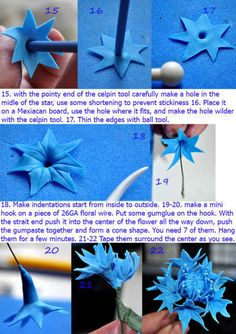 I use Nicholas Lodge gum paste receipt what dries really fast . With this flower…