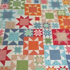 Picnic quilt- Farm Girl Vintage book using my Simple Star block. It was made by Nancy for @alatimer