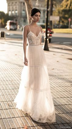 gali karten 2017 bridal spaghetti strap sweetheart neckline heavily embellished bodice sexy romantic soft a line wedding dress open scoop back sweep train (4) mv -- Gali Karten 2017 Wedding Dresses