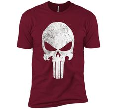 Marvel Punisher Retro Skull Symbol Graphic T-Shirt