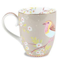 Early Bird Khaki Large Mug Set of 6 @Layla Grayce