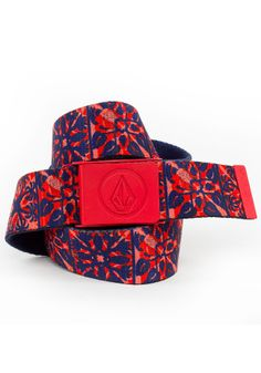planetsports VOLCOM - Borderline Web Belt rad red 3cf9bbc5f5a8f