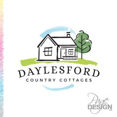 Logo design for Daylesford Country Cottages, Australia Daylesford, Country Cottages, Page Design, Australia, Graphic Design, Logos, Logo, Visual Communication