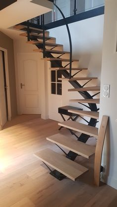 Steel Stairs Design, Stair Railing Design, Home Stairs Design, Door Design, Home Interior Design, Interior Architecture, House Design, Escalier Design, The Home Edit