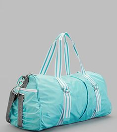 My Superficial Endeavors: Summer Party, Lululemon Jumpstart Gym Bag and Trapeze Show! Lululemon Bags, Workout Gear, Lululemon Athletica, Gym Bag, Blue And White, My Style, Angel, Party, Summer