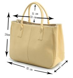 Classic design and stylish appearance that will instantly get you noticed. Great quality at a great price! Brand Name: FREYA SAFI Main Material: PU Leather Lining Material: Polyester Closure Type: Hasp and Zipper Colors: Brown, Beige, Ivory, Lime Green, Orange, Pink, Red, Sky Blue, White Item Type: Handbag Package: One Handbag