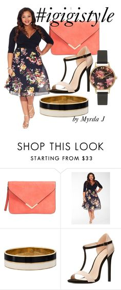 """""""IGIGI Kelly Dress in Noir Rose"""" by mjmonasterial on Polyvore featuring Kate Spade, Charlotte Russe and Olivia Burton"""