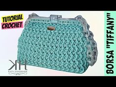 "Tutorial crochet bag ""Miss Sicily"" Bag Crochet, Crochet Clutch, Crochet Handbags, Crochet Purses, Love Crochet, Crochet Stitches, Crochet Patterns, Crochet Hats, Crochet Videos"