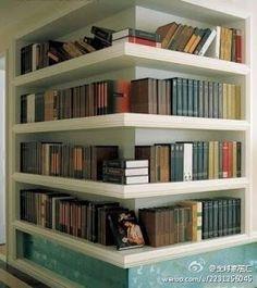 Outside corner bookshelf. (Finally!)