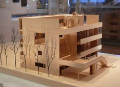 Le Corbusier, Other photos of this model here and here Architecture Model Making, Interior Architecture, Chandigarh, Villa Savoye, Casa Cook, Arch Model, Built Environment, Le Corbusier, Little Houses