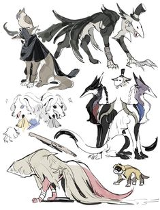 I love dogs and Identity V. And this art is not mine. Character Concept, Concept Art, Character Design, Pretty Art, Cute Art, Identity Art, Anime, Creature Design, Beautiful Creatures