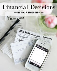 How to Make Financial Decisions in Your Twenties ~ Levo League #articles