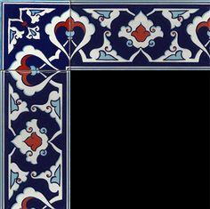 10x20 Çini Bordürler Dot Art Painting, Ceramic Painting, Ceramic Art, Islamic Tiles, Turkey Art, Islamic Patterns, Turkish Tiles, Clay Tiles, Islamic Art Calligraphy