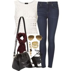 A fashion look from August 2014 featuring pattern shirt, dark-wash jeans and open toe sandals. Browse and shop related looks. Fashion Looks, Women's Fashion, Dark Wash Jeans, Open Toe Sandals, Stylish, My Style, Clothing, Polyvore, Closet