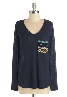 Books and Brunch Top. Clad in this navy top, you lead your book club pals to a table by the window. #blue #modcloth