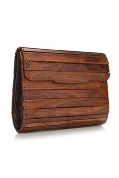 PANEL PRINCESS WOODEN BAG - Handbags - French Connection Usa