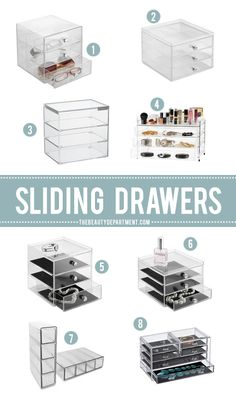 sliding drawer storage for organizing beauty products and fashion accessories