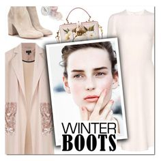 """""""So Cozy: Winter Boots III"""" by vampirella24 ❤ liked on Polyvore featuring Topshop, Valentino, Dolce&Gabbana and Gianvito Rossi"""