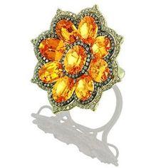 Mandarin garnets and diamonds in gold Heart Jewelry, Gemstone Jewelry, Fine Jewelry, Unique Jewelry, Garnet And Diamond Ring, Diamond Rings, Art Nouveau Jewelry, Fantasy Jewelry, Gemstone Colors