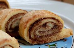 "Cinnamon, sugar, and left over dough. I roll 'em up and call them ""Tasties""!"