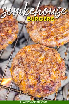Smokehouse Burgers – THE BEST burgers EVER!! Ground beef and sausage loaded with cheddar cheese, bacon, ranch, bbq sauce and french fried onions. Perfection!!! Can make ahead of time and freeze for later. Made these for a cookout and everyone asked for the recipe! Our #1 burger recipe!! You need to make this ASAP!  #grilling #burgers #beef #hamburger #bbq #bacon