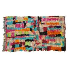 """Check out this item at One Kings Lane! Moroccan Boucherouite Rug, 7'7"""" x 4'3"""""""