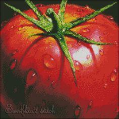 """Cross stitch pattern PDF """"Tomato"""""""