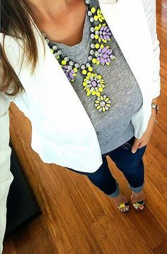 absolutely love this outfit, especially with this necklace added !