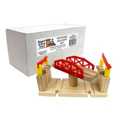 Train Track Piece - Rotating Track - 100% Compatible with All Major Brands including Thomas Wooden Railway System - By Right Track Toys:Amazon:Toys & Games