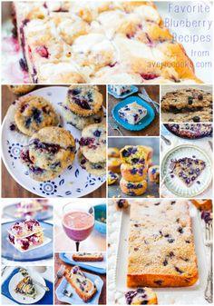 Favorite Blueberry Recipes - Easy, fun recipes using blueberries at averiecooks.com