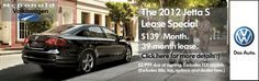 The 2012 Jetta S Lease Special! Going on Now through May 31, 2012 at McDonald Volkswagen near Denver!