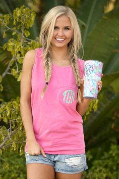 Our lightweight tanks are the perfect way to show off your monogram and stay stylish all summer long!