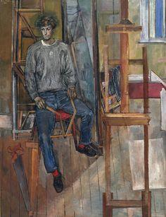 Portrait of Kevin Maybury John Minton. © The estate of John Minton Figure Painting, Painting & Drawing, John Minton, Royal College Of Art, Art Uk, Look At You, Portrait Art, Male Portraits, Figurative Art