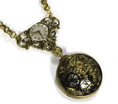 Steampunk Necklace Vintage GERMAN 1800s Optical Lens Gears ORNATE ...1296 x 1063 | 523.3KB | www.etsy.com