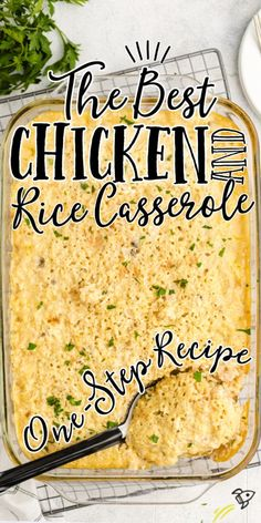 Easy Casserole Recipes, Rice Casserole, Easy Chicken And Rice, Chicken Rice, Scalloped Potato Recipes, Cream Soup, Food Dishes, Main Dishes, Side Dishes